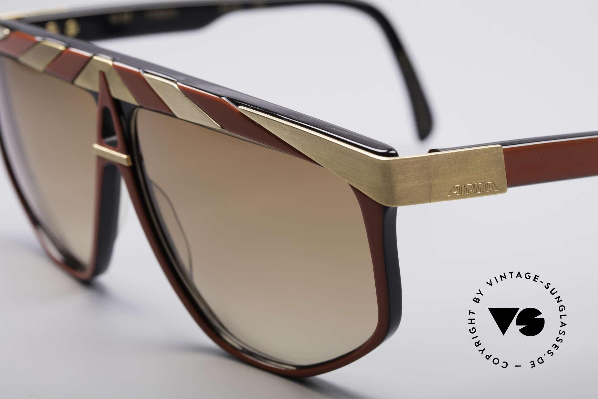 Alpina G82 Vergoldete Vintage Brille, Top-Qualität (24kt vergoldete Metall-Applikationen), Passend für Herren und Damen