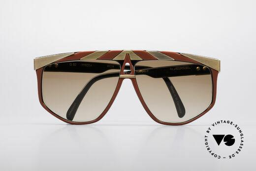 Alpina G82 Vergoldete Vintage Brille, KEINE RETROMODE; ein altes Unikat von circa 1985!, Passend für Herren und Damen