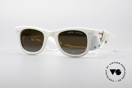 Alpina Classic Vintage Ski Sonnenbrille Details
