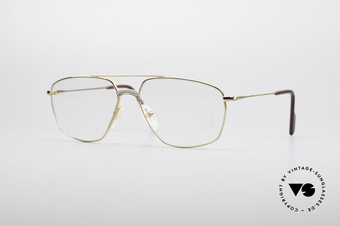 Alpina FM80 Klassische 80er Vintage Brille, klassische vintage ALPINA Herren-Brillenfassung, Passend für Herren