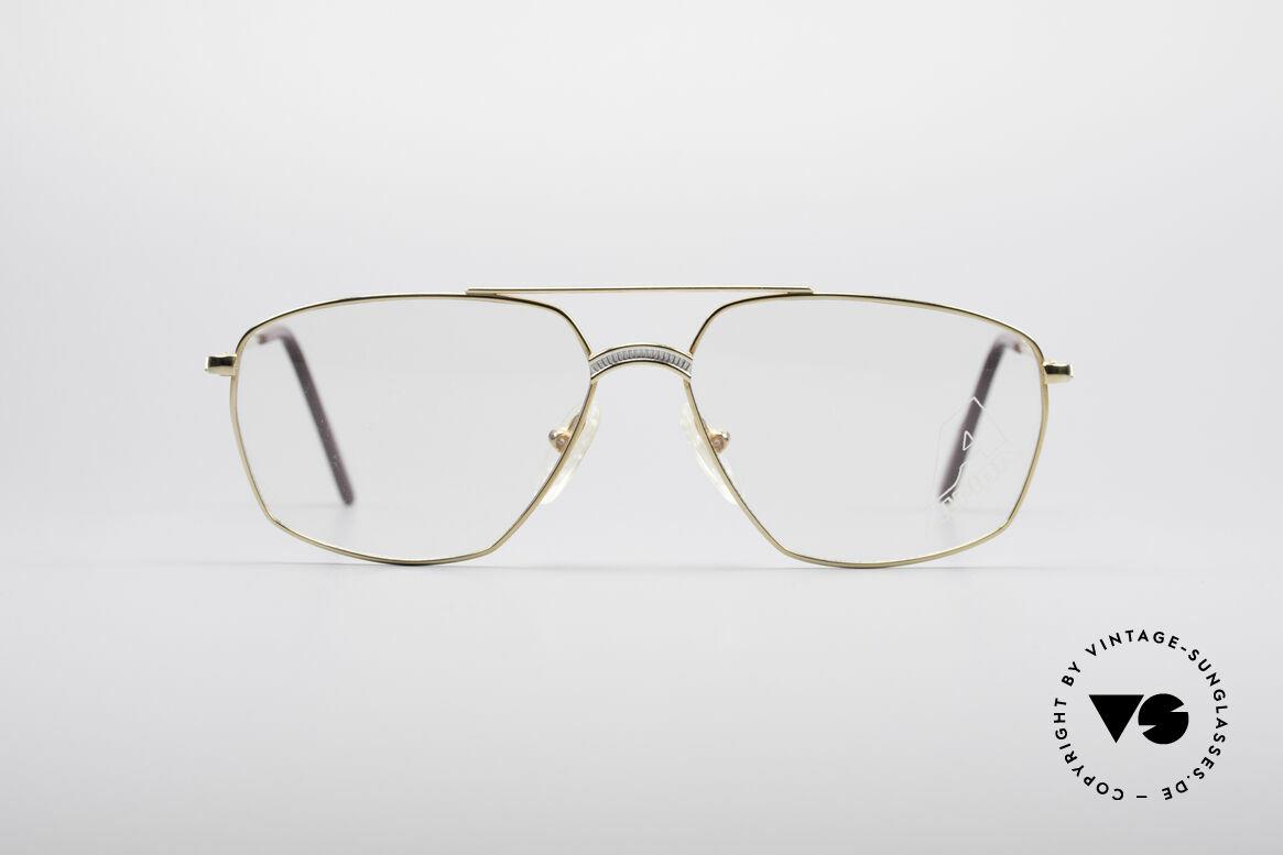 Alpina FM80 Klassische 80er Vintage Brille, markante Brücke in einem edlen Titanium-Muster, Passend für Herren