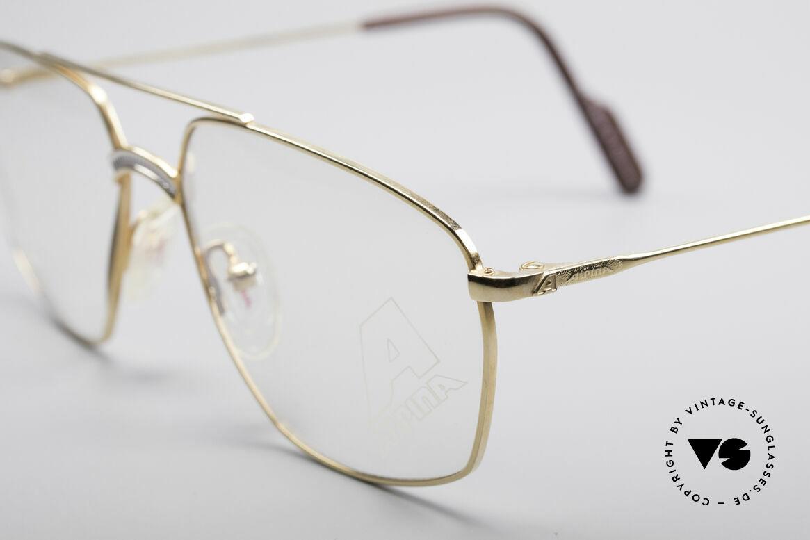 Alpina FM80 Klassische 80er Vintage Brille, ungetragenes Einzelstück aus dem Jahre 1987/1988, Passend für Herren