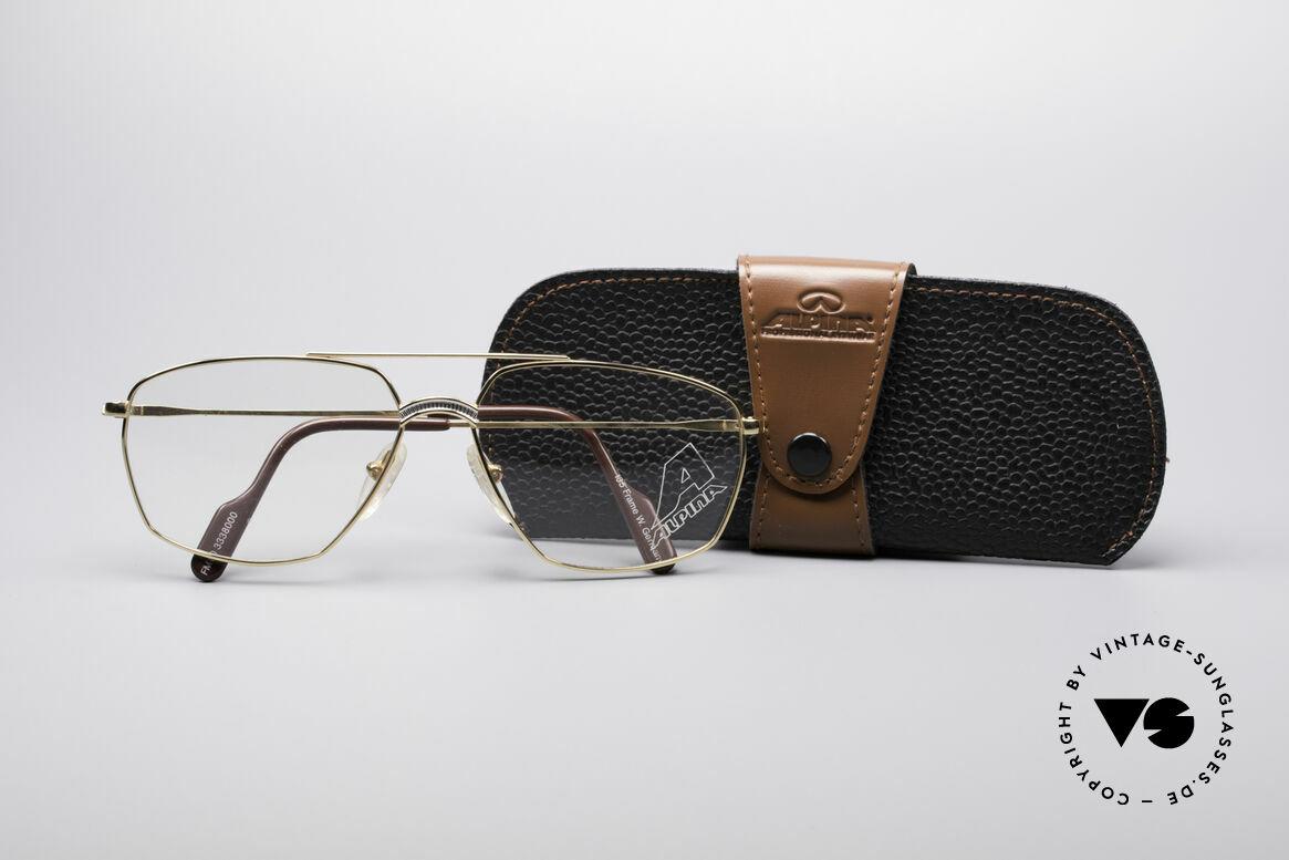 Alpina FM80 Klassische 80er Vintage Brille, KEINE Retrobrille, sondern ein kostbares Original, Passend für Herren