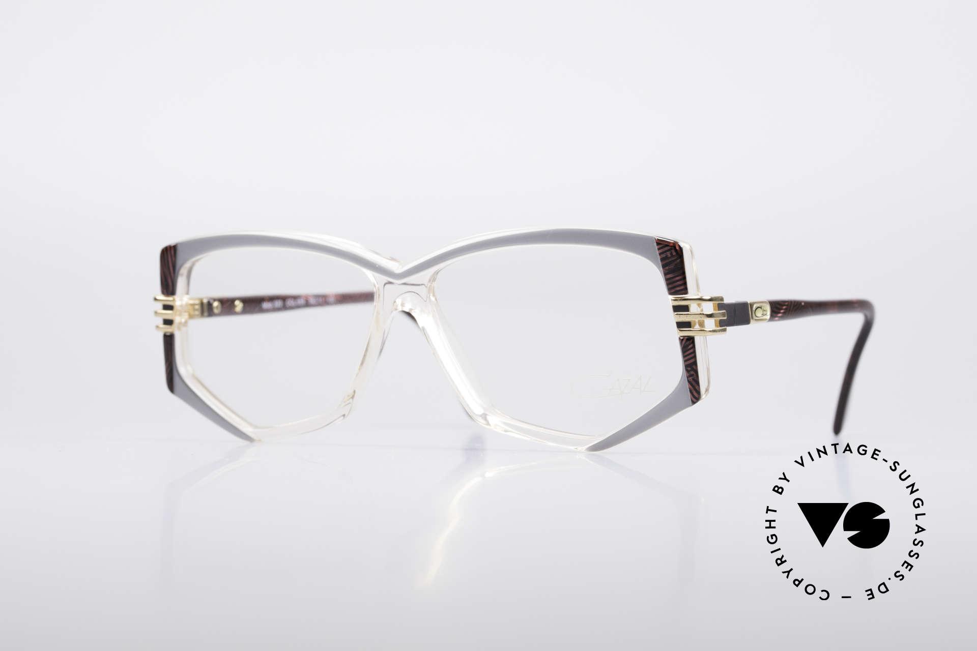 Cazal 322 80er West Germany Cazal, originelle Cazal Designerbrille aus den 80er Jahre, Passend für Damen