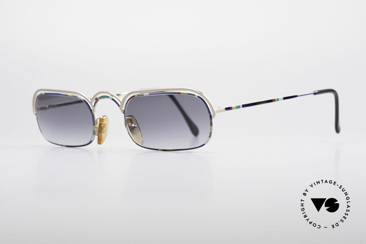 Casanova DV14 Dolce Vita Sonnenbrille, Form wie zu Zeiten des italienischen Schriftstellers, Passend für Herren und Damen