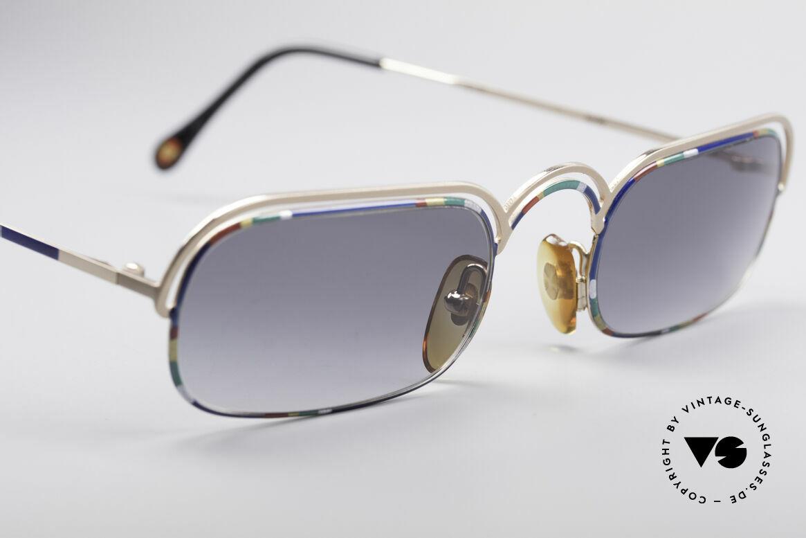 Casanova DV14 Dolce Vita Sonnenbrille, farbenfroh, geschwungene Fassung in Top-Qualität, Passend für Herren und Damen