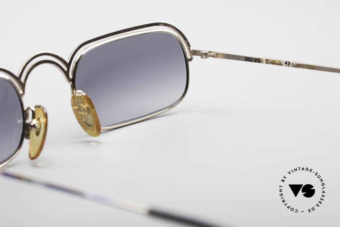 Casanova DV14 Dolce Vita Sonnenbrille, einzigartige vintage Brille in ungetragenem Zustand, Passend für Herren und Damen