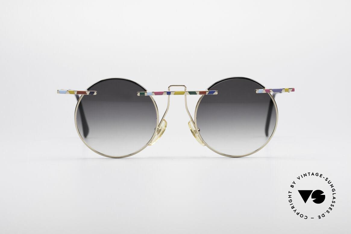 Taxi 222 by Casanova 80er Kunstbrille, farbenfrohes Design & schwungvolle Rahmengestaltung, Passend für Damen