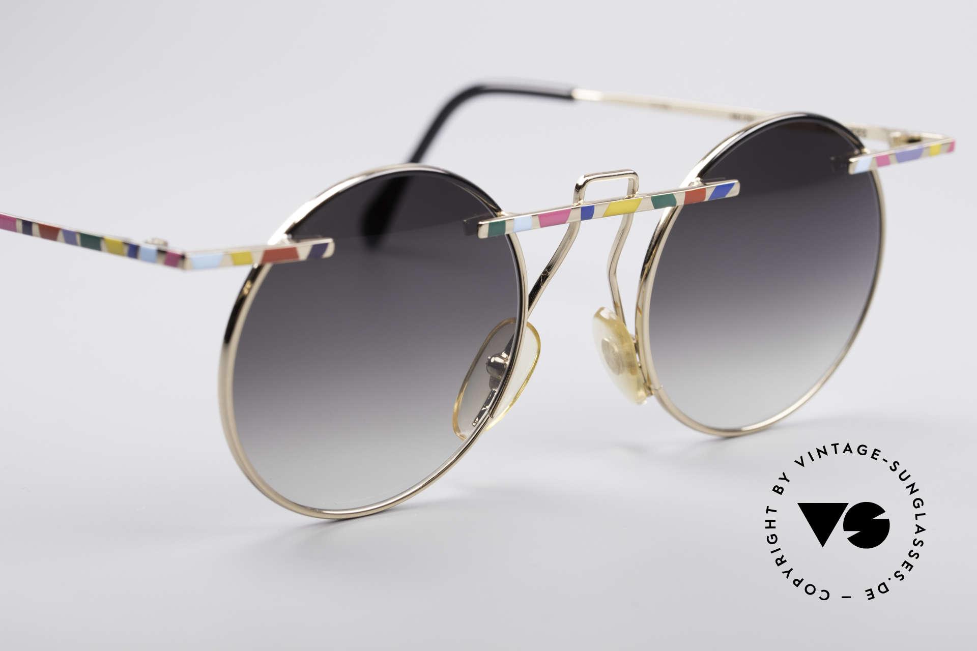 Taxi 222 by Casanova 80er Kunstbrille, Sonnengläser (grau-Verlauf) können ggf. ersetzt werden, Passend für Damen