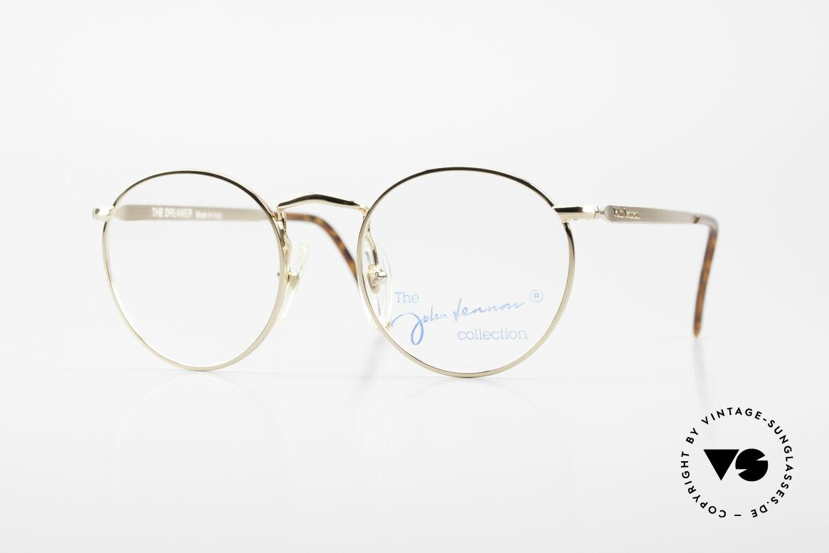 John Lennon - The Dreamer Extra Kleine Vintage Brille, Model 'The Dreamer': Panto-Brille in 47mm Größe, Passend für Herren und Damen