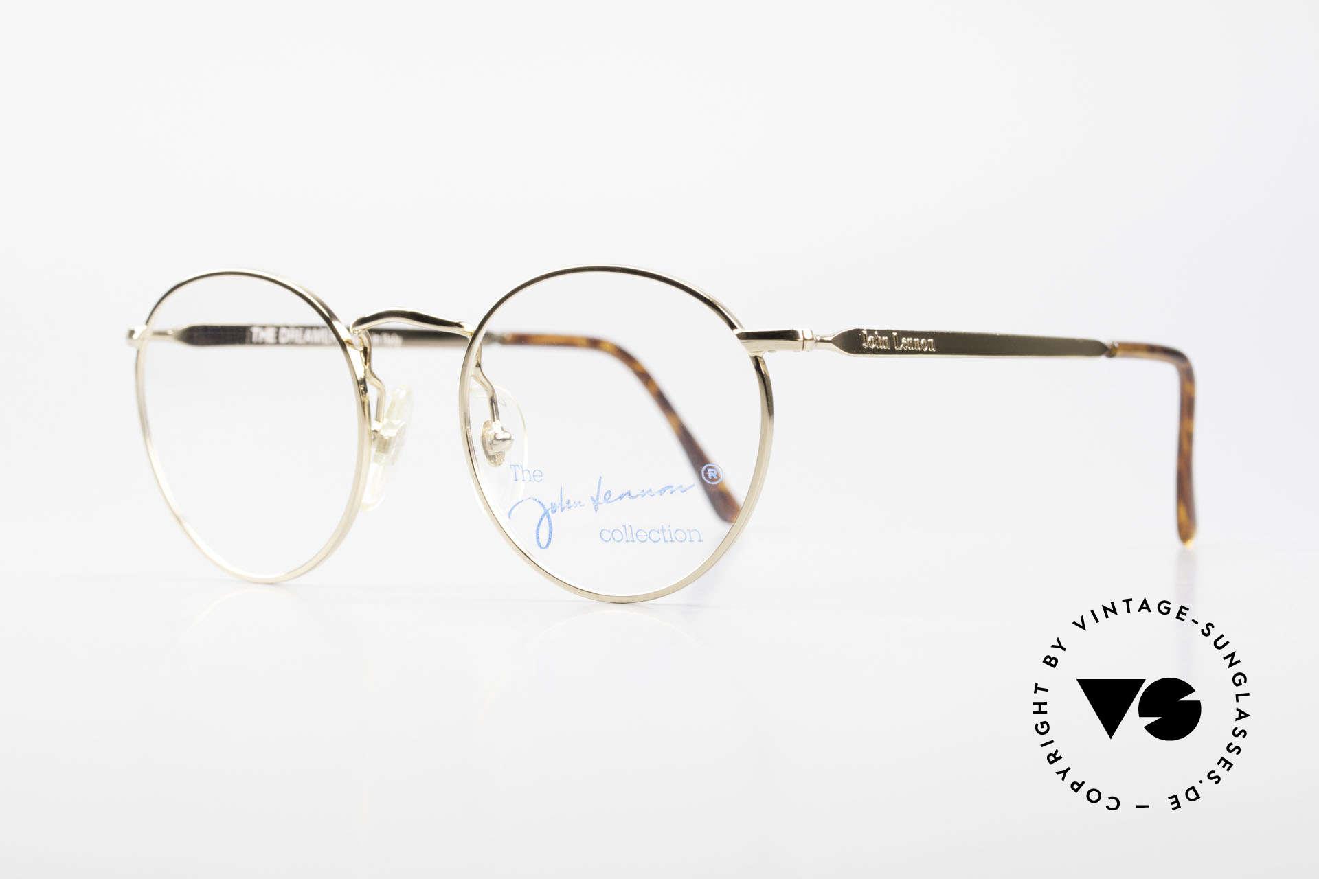 John Lennon - The Dreamer Extra Kleine Vintage Brille, benannt nach bekannten J. Lennon / Beatles Songs, Passend für Herren und Damen