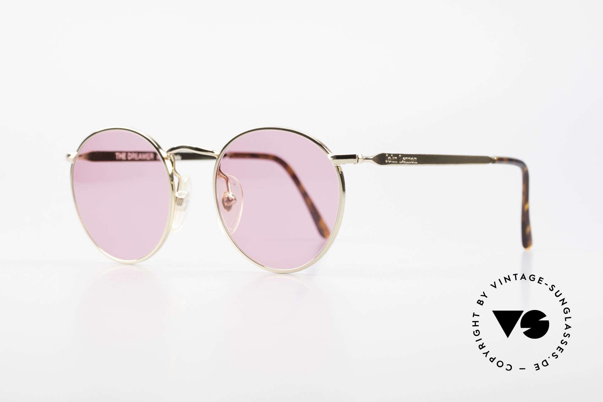 John Lennon - The Dreamer Die Rosarote Vintage Brille, benannt nach bekannten J. Lennon / Beatles Songs, Passend für Herren und Damen