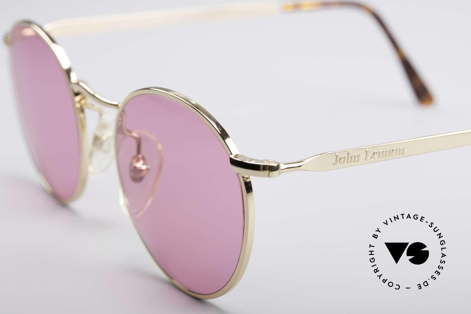 John Lennon - The Dreamer Die Rosarote Vintage Brille, pinke Gläser: sieh die Welt durch die rosarote Brille, Passend für Herren und Damen