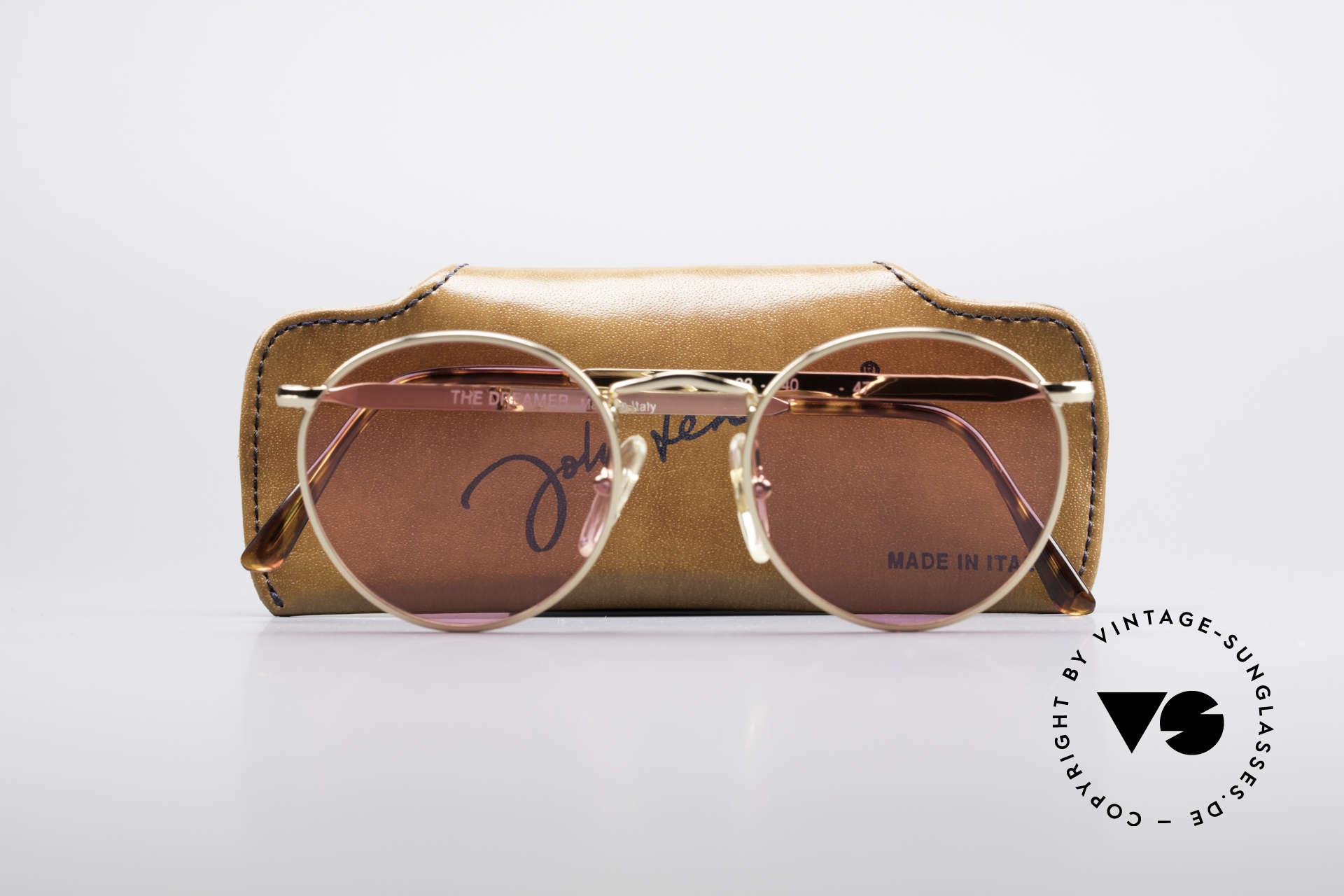 John Lennon - The Dreamer Die Rosarote Vintage Brille, KEINE RetroSonnenbrille, sondern ein altes Original, Passend für Herren und Damen