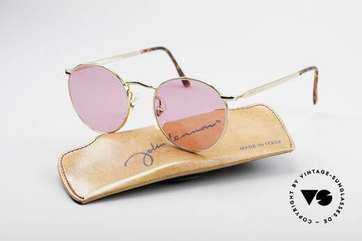 """John Lennon - The Dreamer Die Rosarote Vintage Brille, ungetragen (wie alle unsere """"Hippie-Sonnenbrillen""""), Passend für Herren und Damen"""