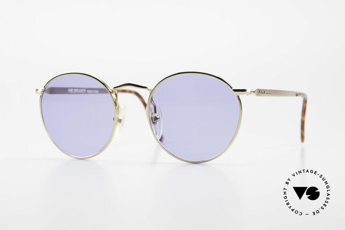 John Lennon - The Dreamer Sehr Kleine Vintage Brille, Model 'The Dreamer': Panto-Brille in 47mm Größe, Passend für Herren und Damen