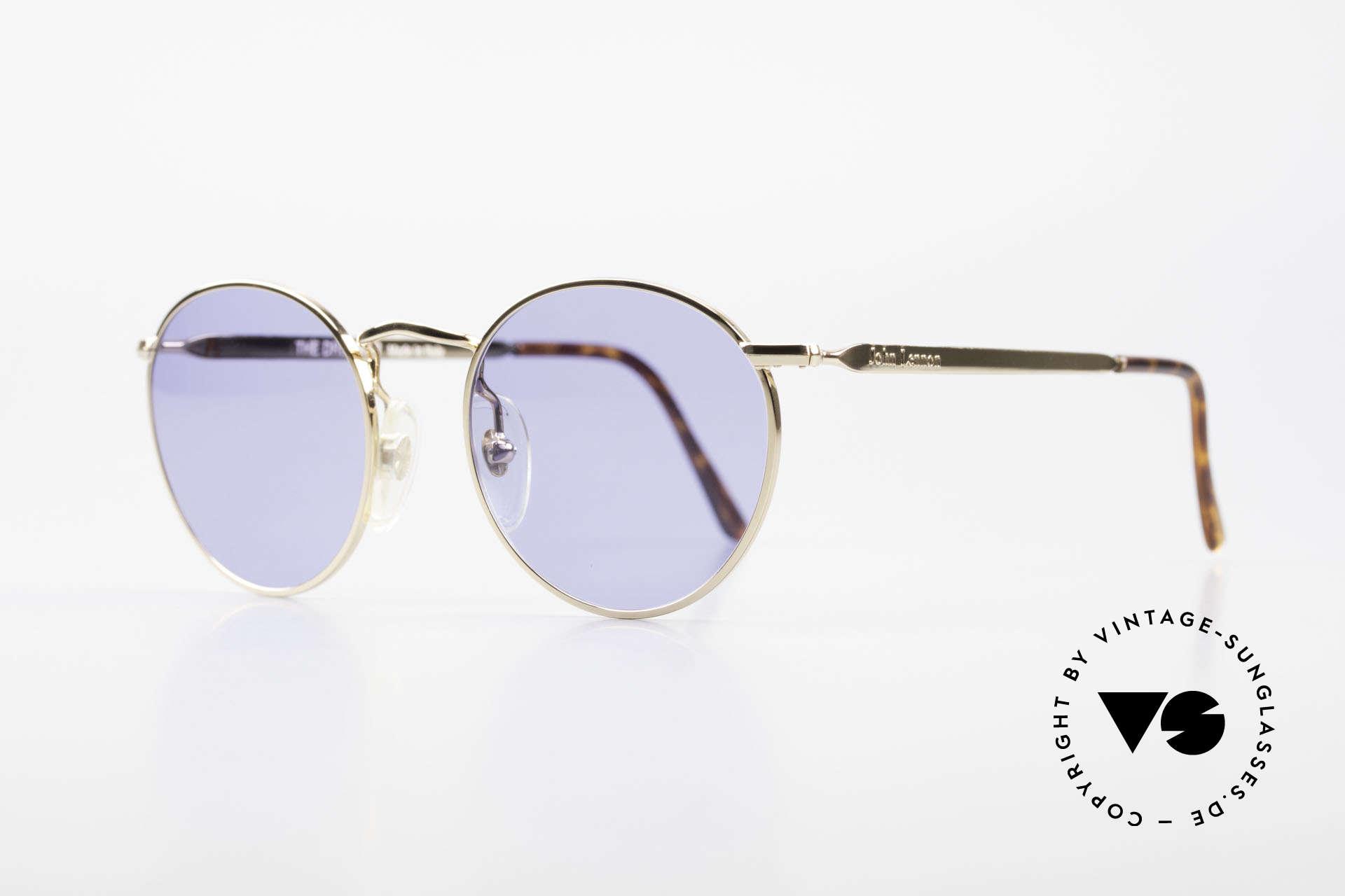 John Lennon - The Dreamer Sehr Kleine Vintage Brille, benannt nach bekannten J. Lennon / Beatles Songs, Passend für Herren und Damen