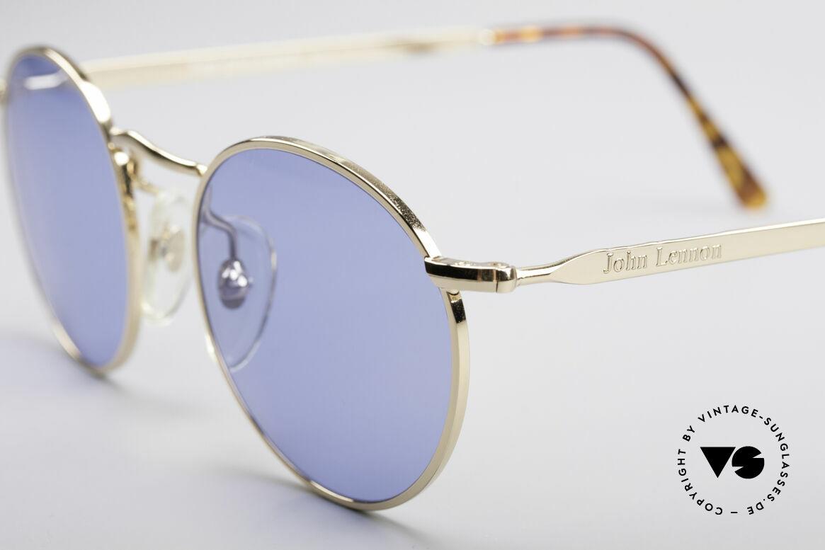 John Lennon - The Dreamer Sehr Kleine Vintage Brille, blaue Gläser: ideal, um einfach mal blau zu machen, Passend für Herren und Damen