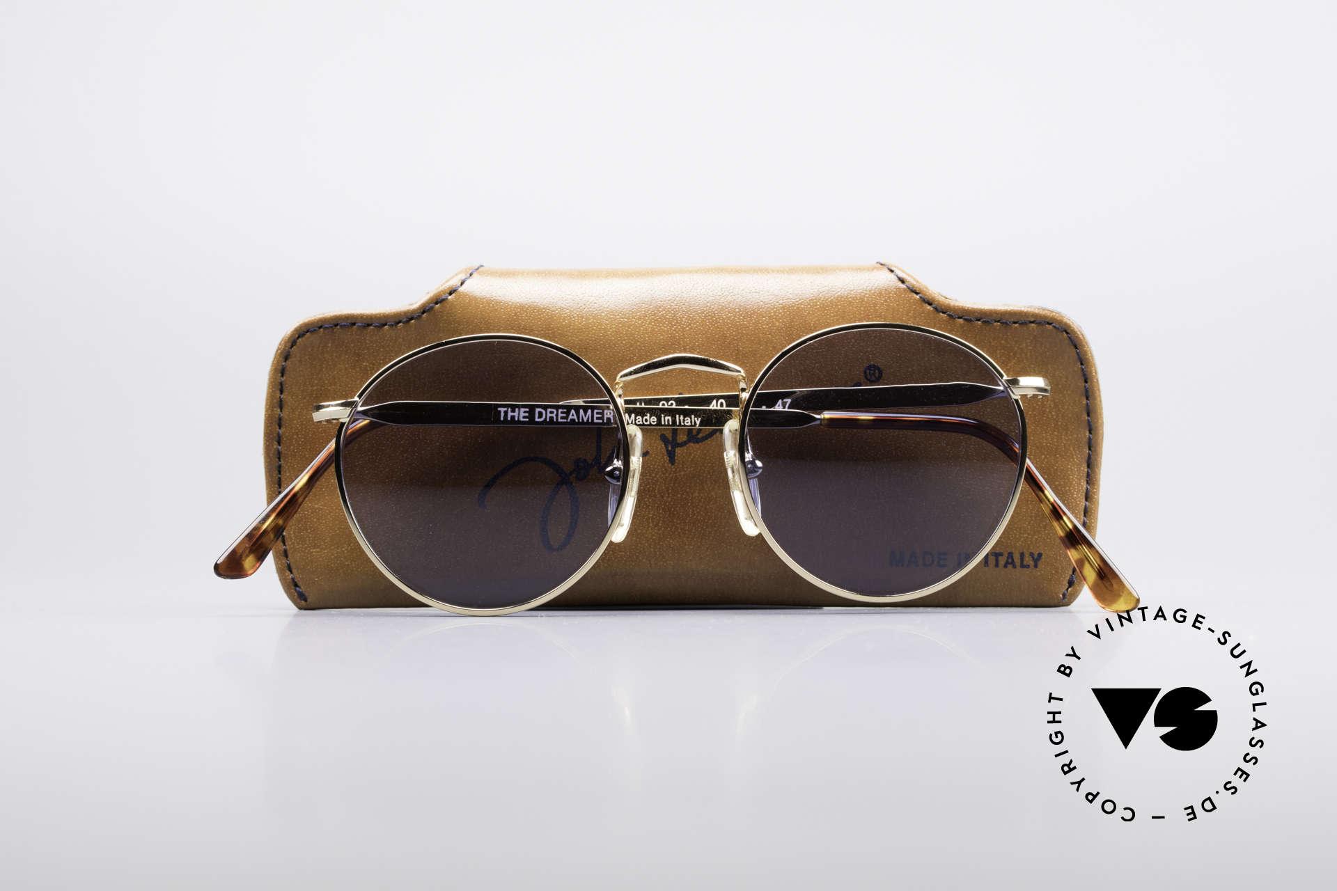 John Lennon - The Dreamer Sehr Kleine Vintage Brille, KEINE RetroSonnenbrille, sondern ein altes Original, Passend für Herren und Damen