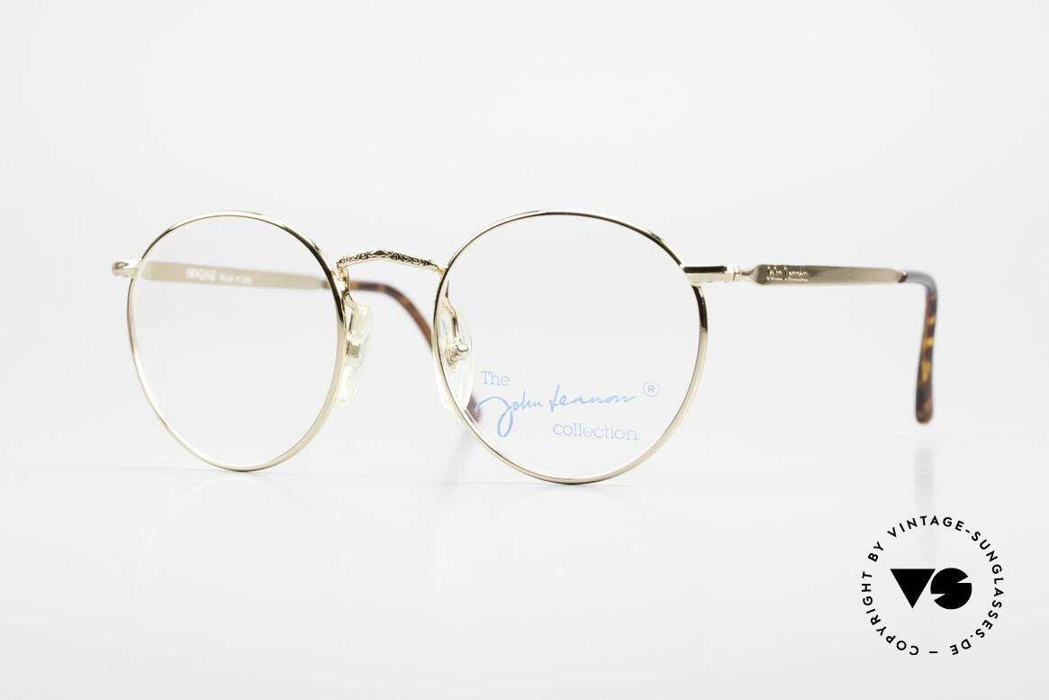 John Lennon - Imagine Kleine Runde Vintage Brille, benannt nach bekannten J. Lennon / Beatles Songs, Passend für Herren und Damen