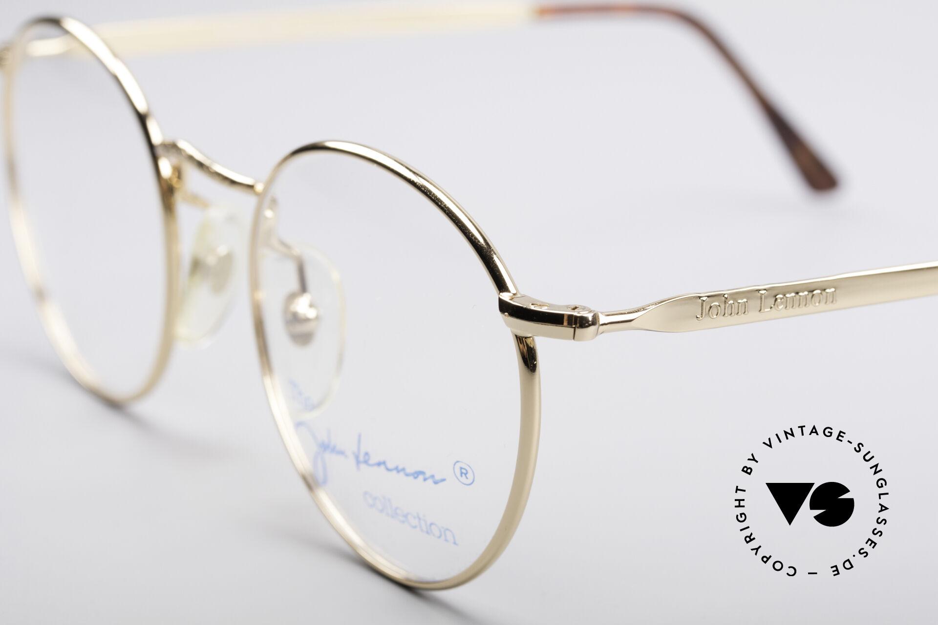 John Lennon - Imagine Kleine Runde Vintage Brille, legendärer; unverwechselbarer John LENNON Look, Passend für Herren und Damen