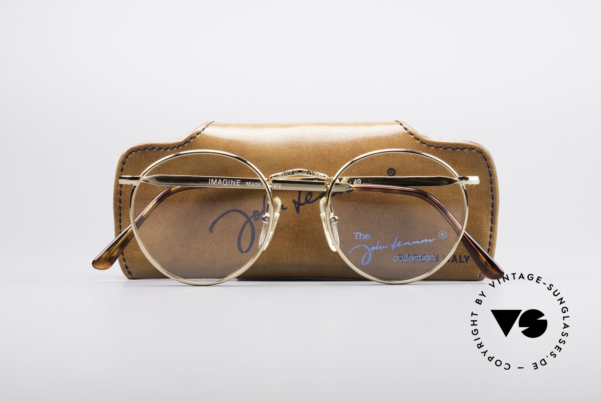 John Lennon - Imagine Kleine Runde Vintage Brille, KEINE RETRO-BRILLE, sondern ein altes Original, Passend für Herren und Damen