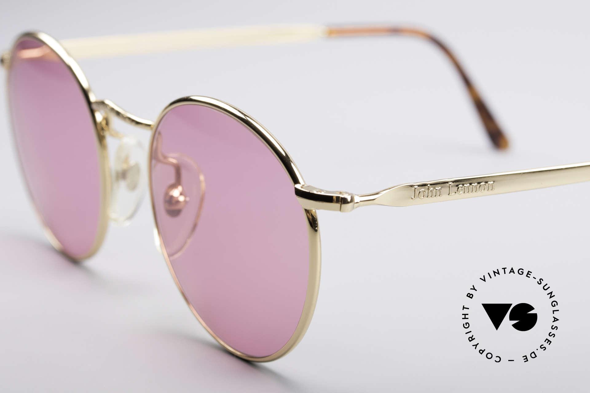 John Lennon - Imagine Die Rosarote Vintage Brille, pinke Gläser: sieh die Welt durch die rosarote Brille, Passend für Herren und Damen