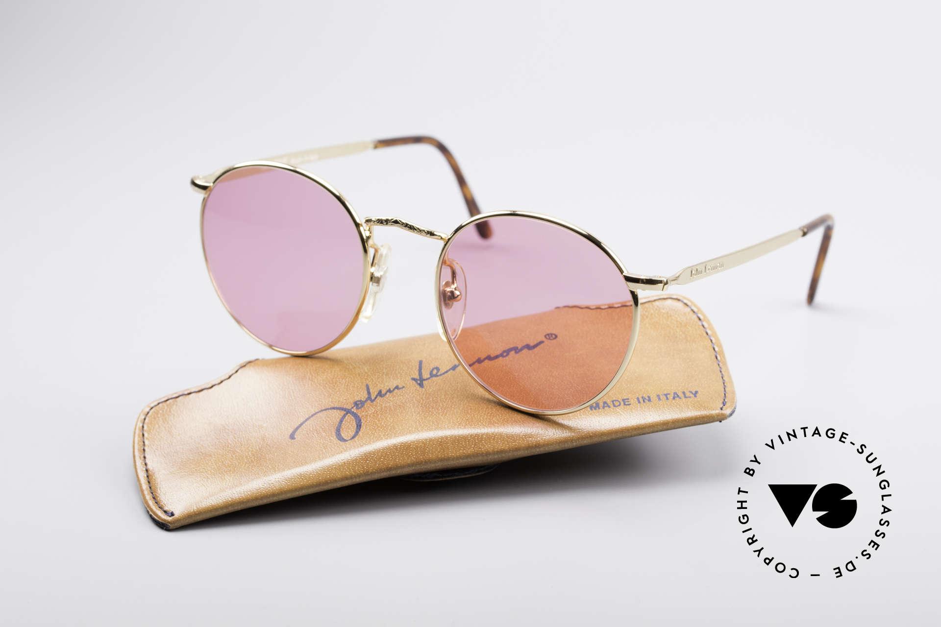 """John Lennon - Imagine Die Rosarote Vintage Brille, ungetragen (wie alle unsere """"Hippie-Sonnenbrillen""""), Passend für Herren und Damen"""