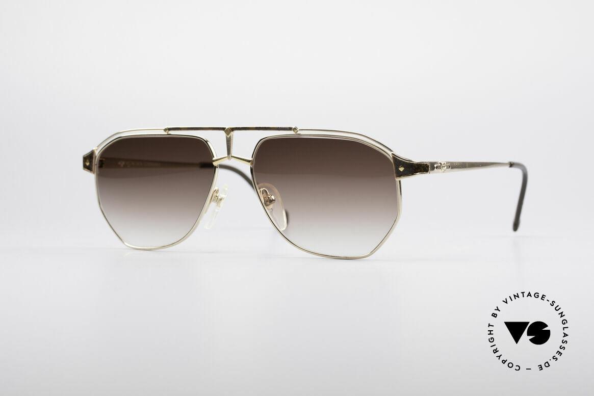 MCM München 6 XL Luxus Sonnenbrille, extra große MCM Designer-Brille aus den 90ern, Passend für Herren