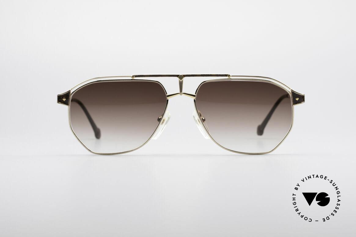 MCM München 6 XL Luxus Sonnenbrille, modifizierte Pilotenform in 150mm Breite = XXL, Passend für Herren