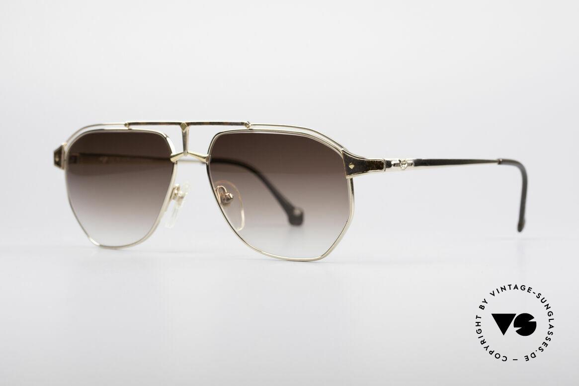 MCM München 6 XL Luxus Sonnenbrille, dennoch leicht & komfortabel, da Pure Titanium, Passend für Herren