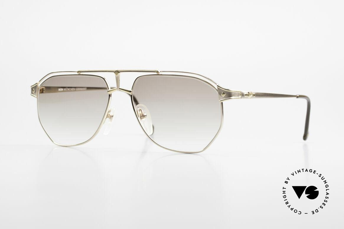 MCM München 6 XL Luxus Sonnenbrille 90er, extra große MCM Designer-Brille aus den 90ern, Passend für Herren