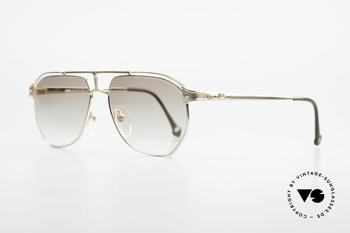 MCM München 6 XL Luxus Sonnenbrille 90er, dennoch leicht & komfortabel, da teils Titanium, Passend für Herren