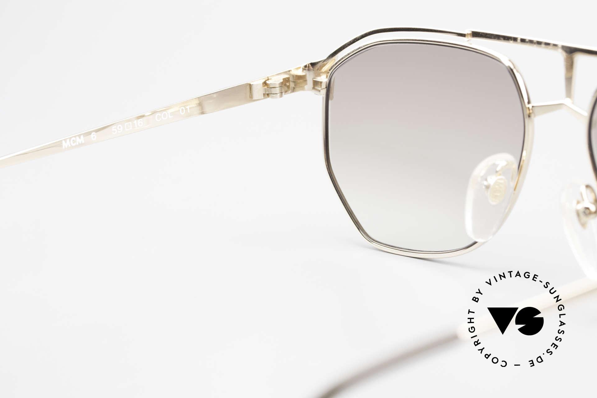 MCM München 6 XL Luxus Sonnenbrille 90er, ungetragen (wie alle unsere alten MCM-Originale), Passend für Herren