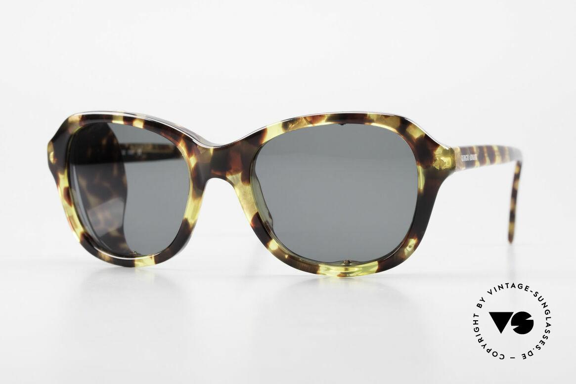 Giorgio Armani 826 No Retro Sonnenbrille 90er, bewegliche Seitenblenden; sind auch komplett entfernbar, Passend für Damen