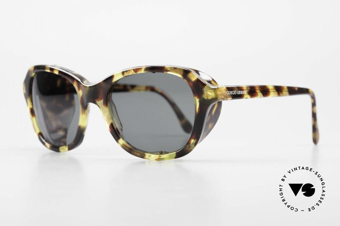"""Giorgio Armani 826 No Retro Sonnenbrille 90er, tolles Rahmenmuster in einer Art """"Bernstein-Schildpatt"""", Passend für Damen"""