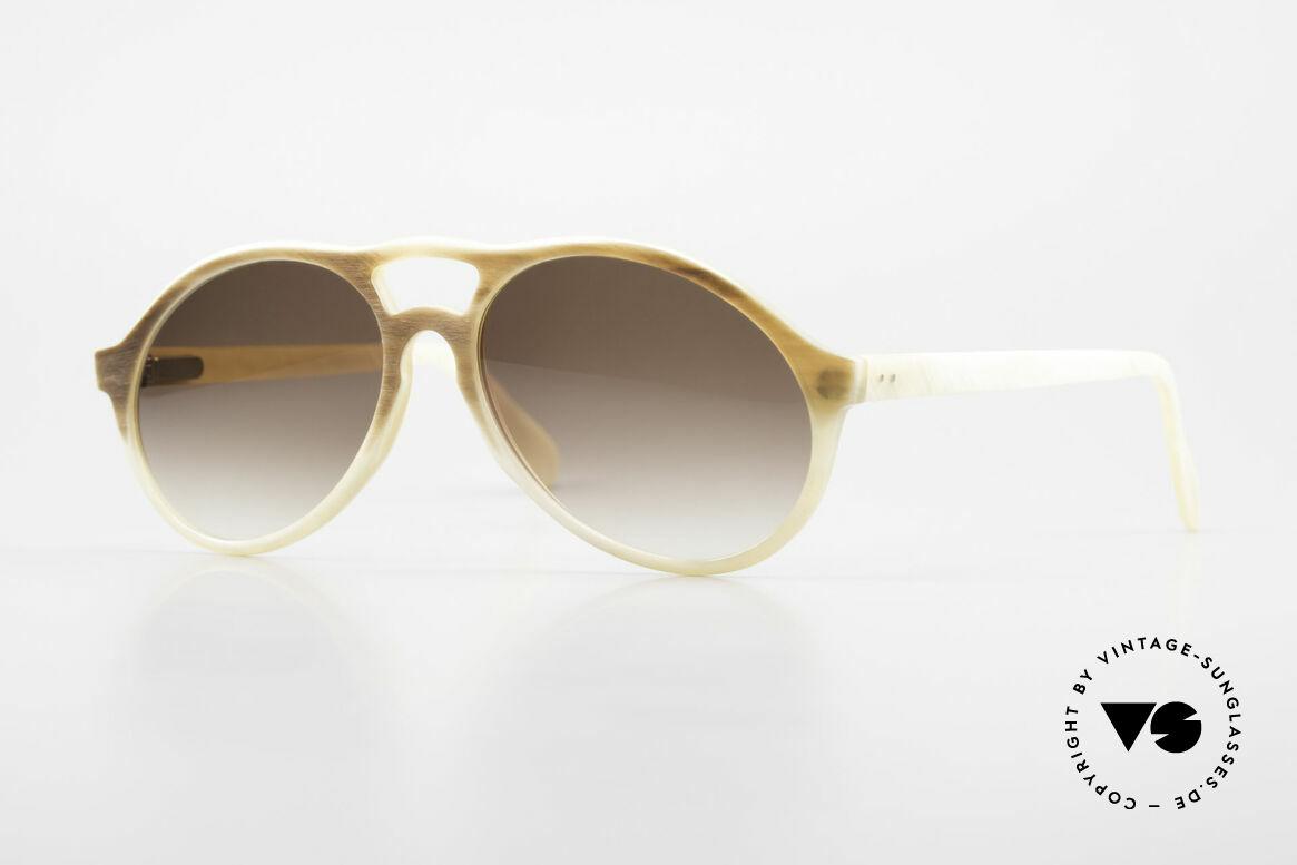 Bugatti 7343 Echt Büffelhorn Sonnenbrille, extrem seltenes Designerstück aus echtem Büffelhorn, Passend für Herren