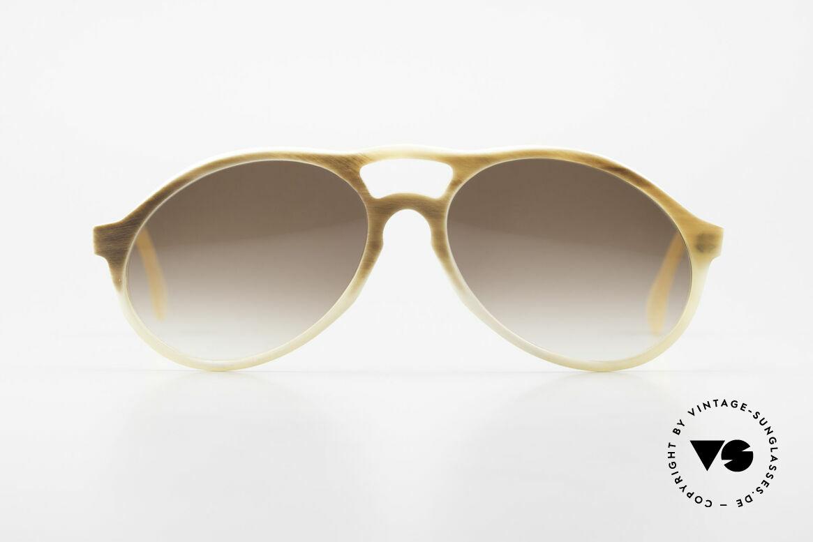 Bugatti 7343 Echt Büffelhorn Sonnenbrille, kostbare vintage BUGATTI Sonnenbrille in Größe 54-16, Passend für Herren