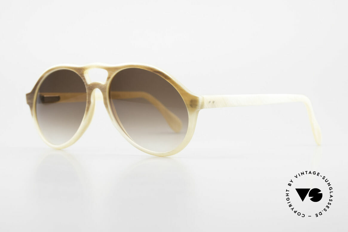 Bugatti 7343 Echt Büffelhorn Sonnenbrille, echte Rarität (in Handarbeit gefertigt); Sammlerstück, Passend für Herren