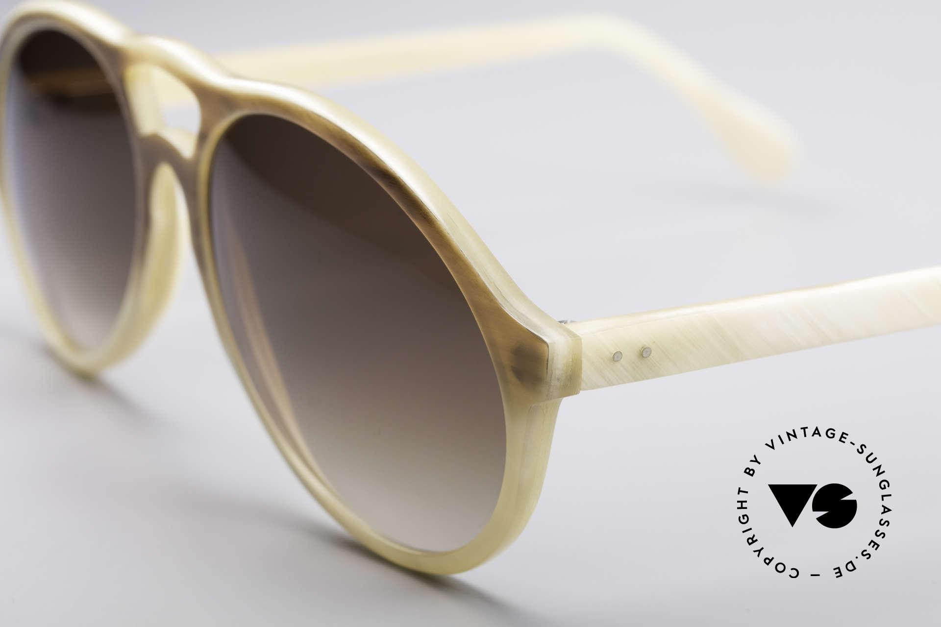 Bugatti 7343 Echt Büffelhorn Sonnenbrille, einzigartiger Rahmen, jedes Horn-Modell ist individuell, Passend für Herren
