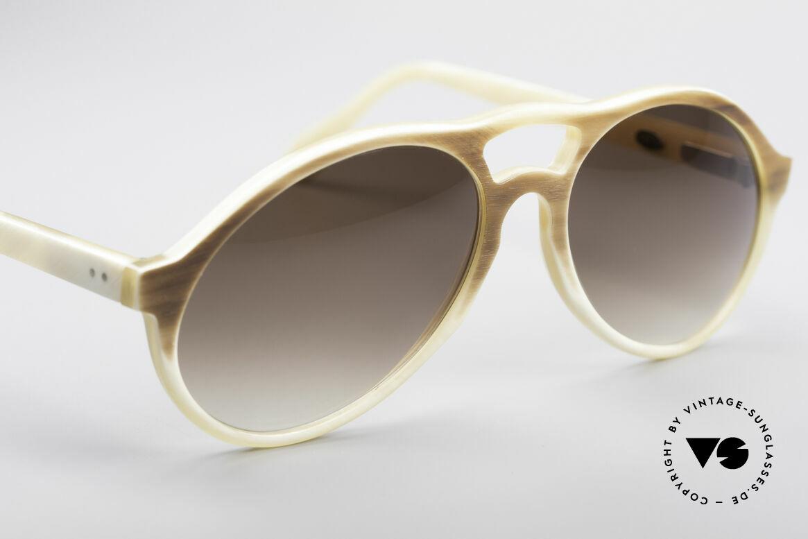 Bugatti 7343 Echt Büffelhorn Sonnenbrille, ein ungetragenes Original der späten 70er / frühen 80er, Passend für Herren