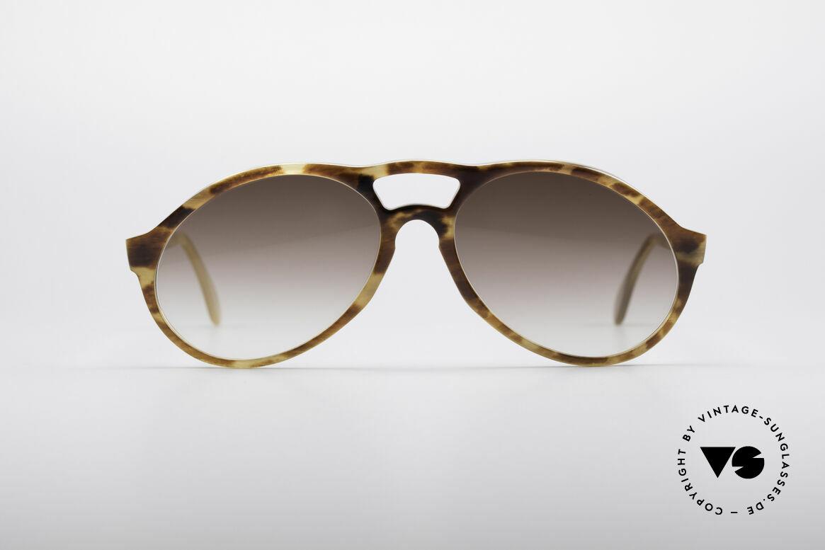 Bugatti 64863 Echt 60er Schildpatt Brille, kostbare BUGATTI Schildpatt-Büffelhorn Sonnenbrille, Passend für Herren