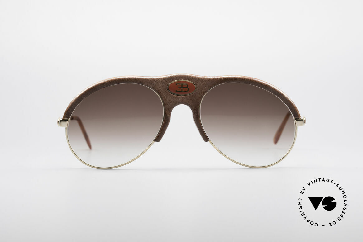 Bugatti 64752 70er Leder Sonnenbrille
