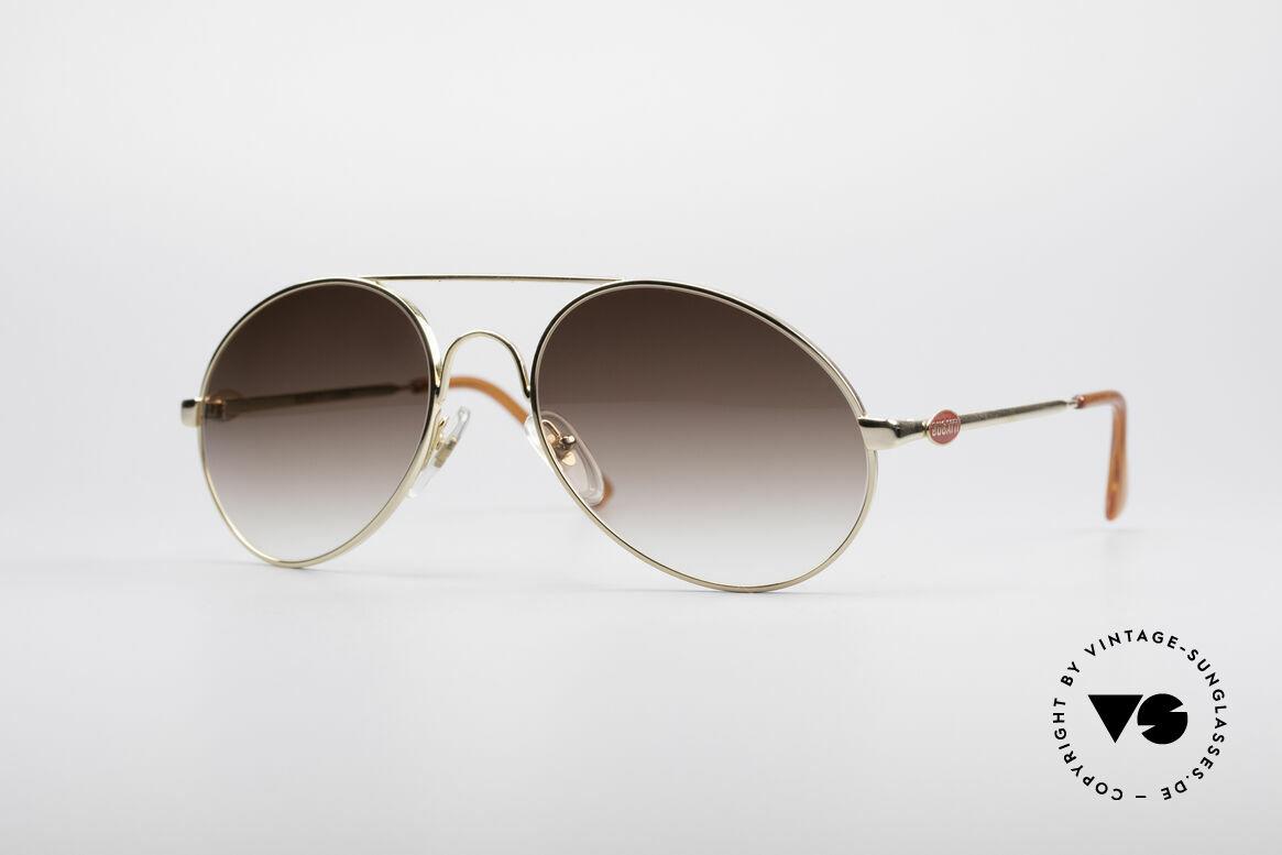 Bugatti 65986 80er Luxus Sonnenbrille, klassische BUGATTI Sonnenbrille von ca. 1985, Passend für Herren