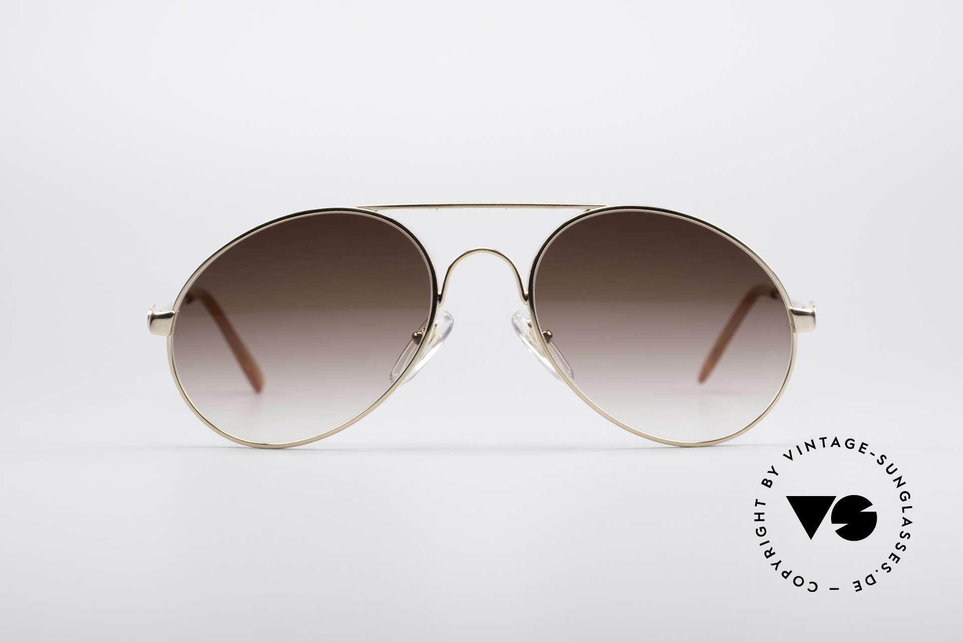 Bugatti 65986 80er Luxus Sonnenbrille, in typischer / legendärer Bugatti-Tropfenform, Passend für Herren