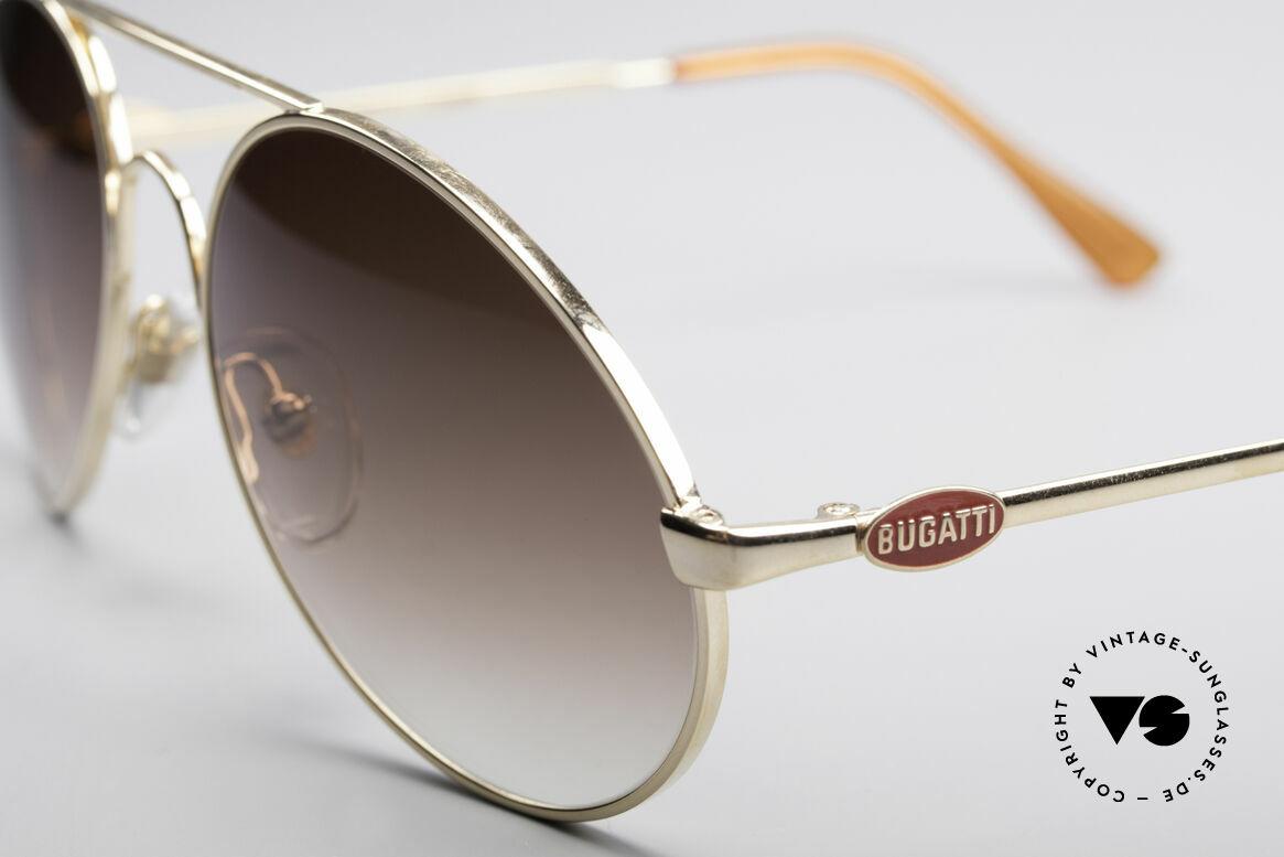Bugatti 65986 80er Luxus Sonnenbrille, Größe 54 = eher die Medium Größe von Bugatti, Passend für Herren