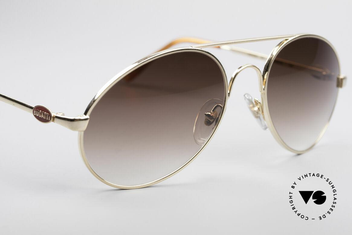 Bugatti 65986 80er Luxus Sonnenbrille, ungetragen (wie alle unsere vintage BUGATTIS), Passend für Herren