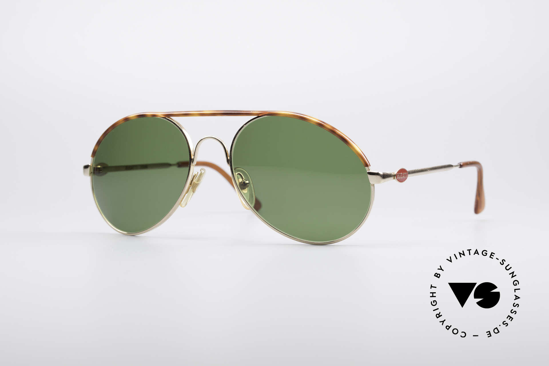 Bugatti 65986 80er Herren Sonnenbrille, klassische BUGATTI Sonnenbrille von ca. 1985, Passend für Herren