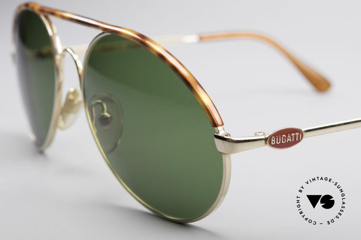 Bugatti 65986 80er Herren Sonnenbrille, Größe 56 = eher die LARGE Größe von Bugatti, Passend für Herren