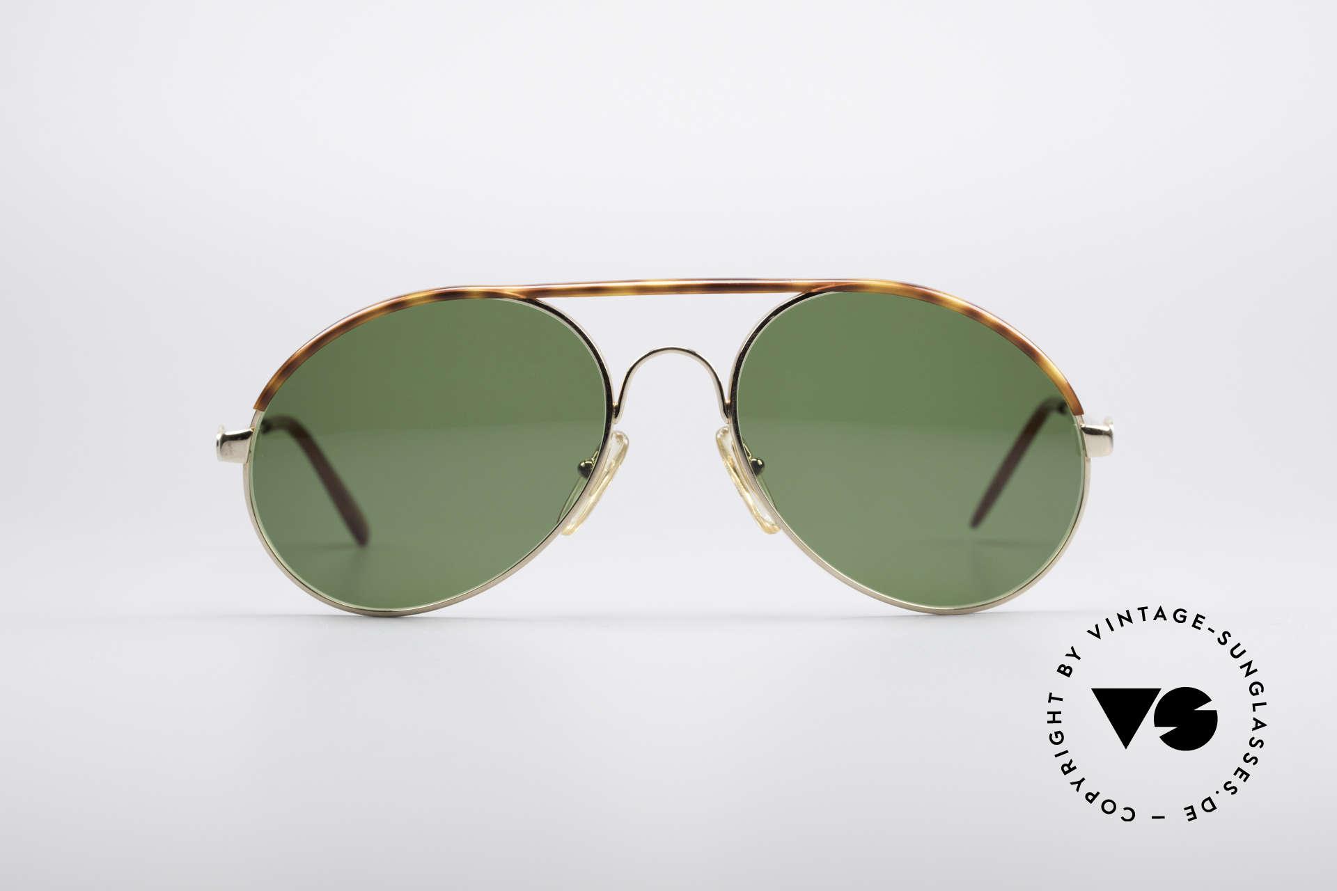 Bugatti 65986 80er Herren Sonnenbrille, in typischer / legendärer Bugatti-Tropfenform, Passend für Herren
